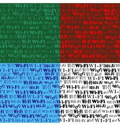 wi fi seamless pattern vector image