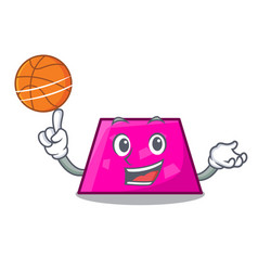 With basketball trapezoid character cartoon style vector
