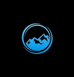 blue abstract mountain logo vector image vector image