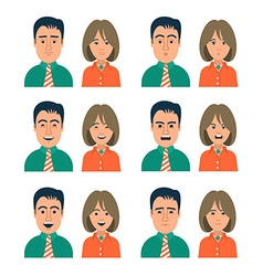 Facial Expressions of Woman and Man vector image vector image