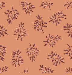 gentle flower seamless pattern with meadow herbs vector image