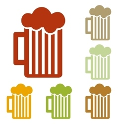 Glass of beer sign vector