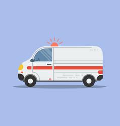 isolated flat ambulance icon vector image vector image