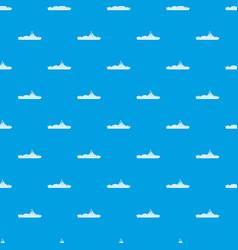 warship pattern seamless blue vector image vector image