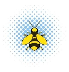Bee icon comics style vector image vector image