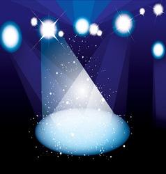concert spotlight vector image vector image