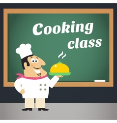 Cooking class advertising poster vector