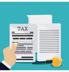 Document and pen icon Tax and Financial item vector image
