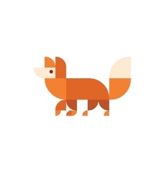 Fox animal orange design logo trends vector image vector image