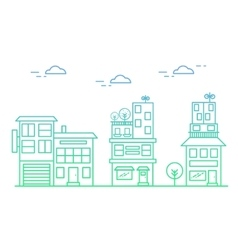 linear houses vector image