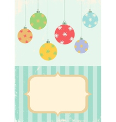 retro of christmas balls vector image vector image