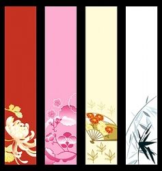 Asian art banners vector