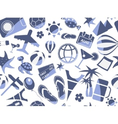 blue travel seamless pattern vector image vector image