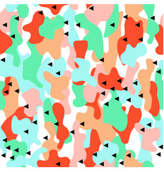 camouflage seamless pattern in a blue green and vector image vector image