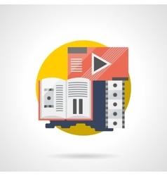 Cinema brochure color detailed icon vector image vector image