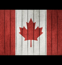 Grunge Flag Of Canada vector image