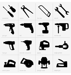 Industrial tools vector image