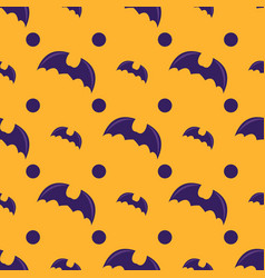 seamless pattern with bat vector image