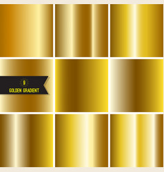 Set of gold foil texture vector