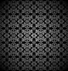 silver leaf wallpaper vector image vector image