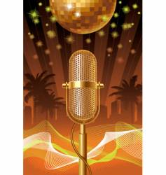 summer disco night vector image vector image