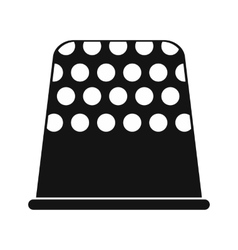 Thimble black simple icon vector image vector image