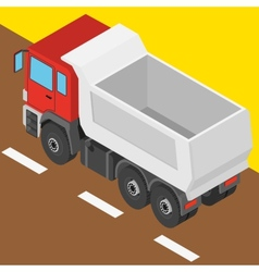 truck in isometric projection vector image