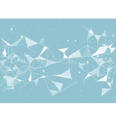 Abstract black background low poly style vector image