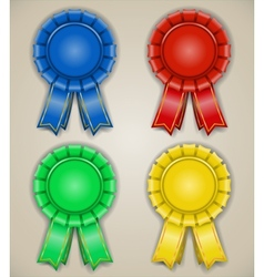 blank emblems with ribbons vector image