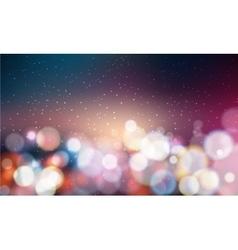 Bokeh background glittering lights vector image vector image