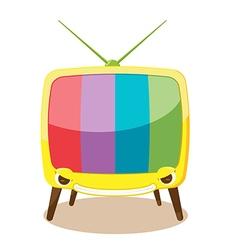 Cartoon Yellow Television Character Cute vector image