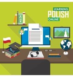 E-learning Polish language vector image vector image