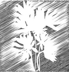 flowers stencil backgroud vector image