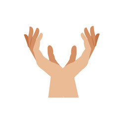 human hands health care medical design vector image