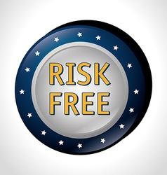 Risk free design vector image vector image