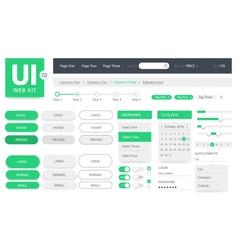 UI kit web template vector image vector image