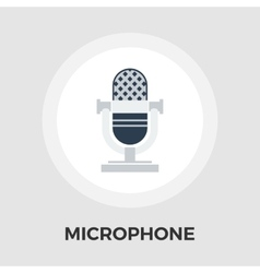 Vintage microphone flat icon vector image vector image
