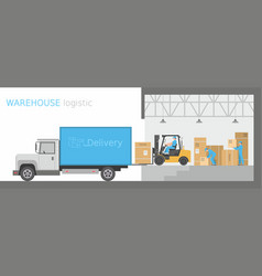 warehouse logistic vector image vector image