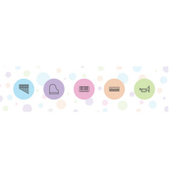 5 jazz icons vector image
