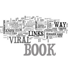 A look at viral e books text word cloud concept vector