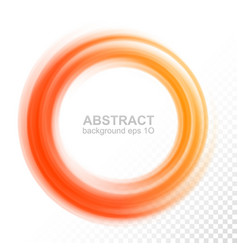 Abstract transparent orange swirl circle vector