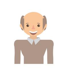 Adult male avatar elder vector