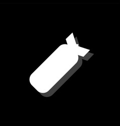 air bomb icon flat vector image