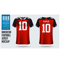 american football jersey mockup template design vector image