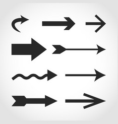 arrow icons in flat design vector image