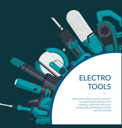 Background electric construction tools vector
