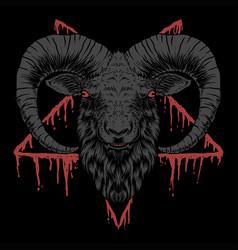 Baphomet satanic head vector