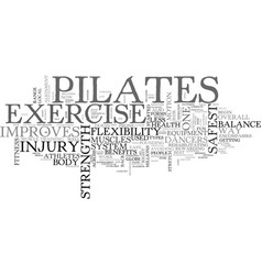 benefits of pilates text word cloud concept vector image