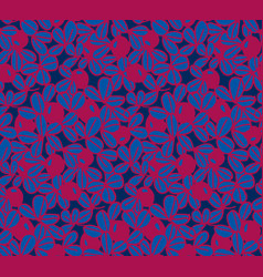 berries background seamless pattern vector image