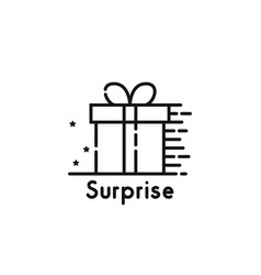black thin line surprise logo isolated on white vector image